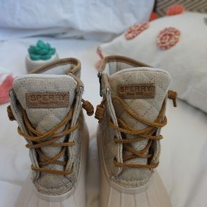 7061ce23107d4 Sperry Shoes | Saltwater Emboss Wool Duck Rain Boots | Poshmark